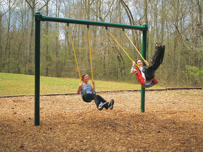 Swinging Playground Equipment : Swings mile high play systems
